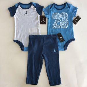 Air Jordan 3pc Set Infant Bodysuit Creeper Pants